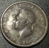 1826 United Kingdom UK ENGLAND GEORGE IV One 1 PENNY LARGE COPPER Coin