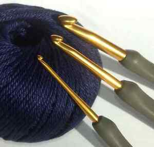 Tulip ETIMO Cushion Grip Aluminium Gold Crochet Hook