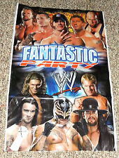 """New ~Wwe Wrestling~ 1- Wall Banner Decoration 19""""X 31"""" Party Supplies"""
