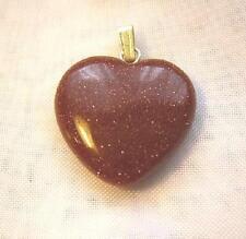 Edelstein Edelsteinherz Herz Goldfluss Anhänger 21 x 21 mm mit Öse Neu