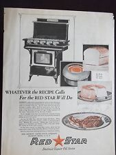 1921 Red Star Detroit Vapor Oil Stove No Wicks No Smoke No Smell Advertisement