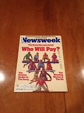 Newsweek Magazine Who Will Pay? The Social Security Crisis January 24 1983
