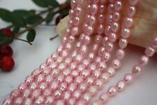 OV185 Zuchtperlen Strang Süßwasser Perlen Schmuck Kette Halskette 5-6mm Oval