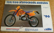 Manual de Instrucciones/Propietarios Manual KTM 125/550 Motocross-Enduro