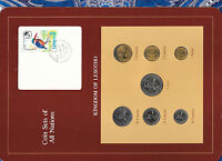 Coin Sets of All Nations Lesotho w/card All 1979 but 50 Lisente 1983