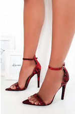 Womens Ladies Pointy High Heels Stilettos Sandals Barely There Party Shoes Size
