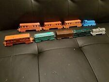 Vintage 1960's Midgetoy Rockford Illinois (9) Piece Train Set Excellent Shape