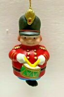 Vintage Russ little drummer boy ceramic bell Christmas ornament