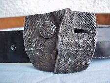 Vintage 1980 Bergamot Brass Works Belt Buckle Jean's Fly Zipper Button 501 Levi