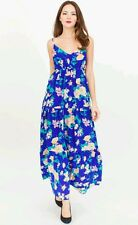 NWT Yumi Kim Silk Blue Multicolored Floral Maxi Dress, size: L - NEW