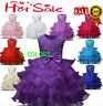 Kids Baby Girls Princess Dress Wedding Bridesmaid Pageant Party Bow Tutu Dresses