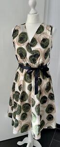 Kleid aus Baumwolle + One Size + NEU + Grün / Beige + Punkte + super leicht +