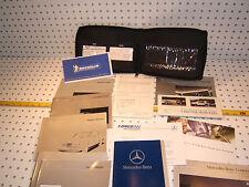 Mercedes W210 E320/430/E300/E55 1999 Owner's Manuals 1 set of 13& Leather 1 case
