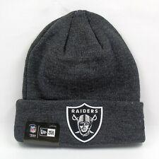 New Era Cap Men's NFL Oakland Raiders Team Essential Winter Knit Beanie Hat