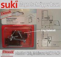 Magnetschnäpper Braun 2 x Möbelmagnet, Türmagnet, Möbel Magnet, Magnetverschluss