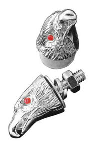 Highway Hawk 03-105 hawk Head M6 Nuts (1 pcs) in Chrome for Motorcycles