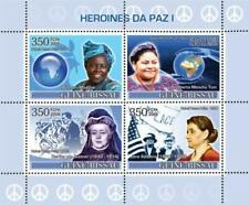 Guinea-Bissau - Pace Heroines 4 Francobollo Foglio - GB8108a