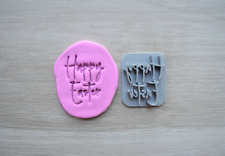 Happy Easter Font 3 Cookie Fondant Embosser Stamp