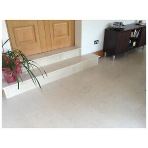 SAMPLE OF Moleanos Azure Beige Honed Limestone Floor Tiles