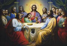 "Religion Orthodox Icon 8""x10"" Christian Art Print Photo LAST SUPPER"