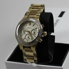 NEW AUTHENTIC DKNY CHAMBERS GOLD CHRONOGRAPH LADIES WOMEN'S NY2395 WATCH