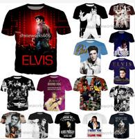 Women Men Casual T-Shirt 3D Print Singer King Elvis Presley Short Sleeve Top Tee
