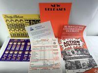 Group of VIDEO SHOP EPHEMERA Australian VHS catalogue flier promo memorabilia
