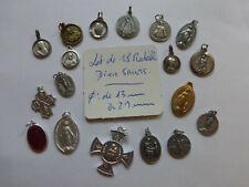PROMO  lot de 18 medaille religieuse  divers Saints creation bijoux   MEDALS