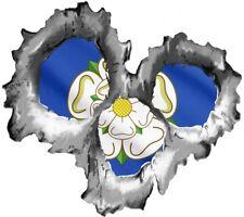 agujero BALA Desgarrado Metal 3 SHOTS sugerente Rosa Yorkshire York Bandera