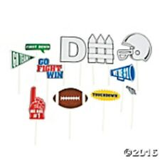 FOOTBALL Photo Stick Prop Kit ~  Set of 12 Props on wooden sticks