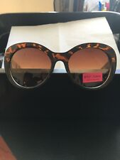 BETSEY JOHNSON TORTOISE STATEMENT  SUNGLASSES OVERSIZE SUMMER STYLE NWT