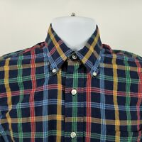 Paul Stuart New York USA Mens Blue Red Blue Check L/S Casual Button Shirt Sz S