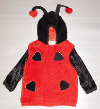 Ladybug Love Bug Plush Halloween Hooded Costume Hearts Girls Child Large Youth