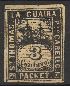La Guaira St. Thomas  1864 Facit LG 29 forgery by Spiro brothers MNG/hinged