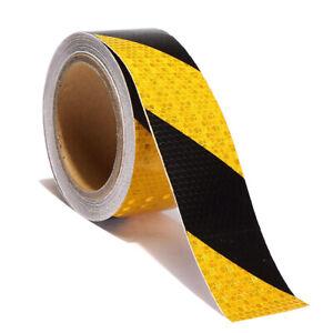 Bodenmarkierungsband reflektierende Klebeband Schwarz Gelb 10m Markierungsband C