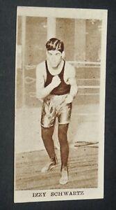 GODFREY CIGARETTES CARD SPORTING CHAMPIONS 1929 #14 CORPORAL IZZY SCHWARTZ USA