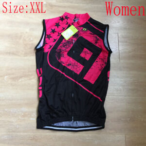 New Women Cycling Jersey Vest Summer Team Bike Shirt Sleeveless Bicycle Tops XXL