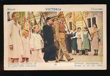 Belgium BRUXELLES Ceremonies Patriotiques Victoria Biscuits Advert 1938 PPC
