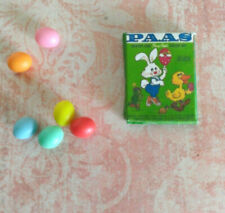 Miniature dollhouse fairy EASTER EGG DYEING 6 resin colored eggs