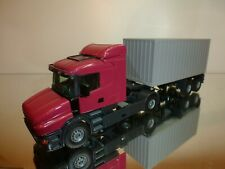 TEKNO HOLLAND SCANIA TORPEDO TRUCK + CONTAINER TRAILER - PURPLE? 1:50 VERY GOOD