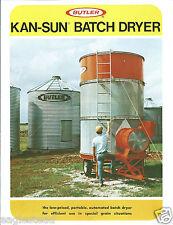 Farm Equipment Brochure - Butler - Kan-Sun Batch Grain Dryer - c1975 (F4371)