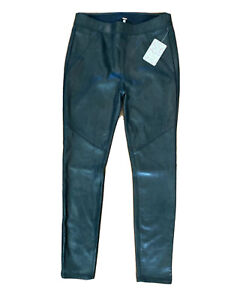 New!!! Free People Never Let Go Faux Leather Black Legging Pants Size 6 Stretch