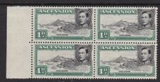 ASCENSION 1949 1d BLACK & GREEN BLOCK OF FOUR NEVER HINGED MINT