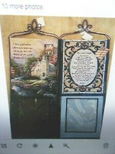 """Tapestry Picture Wall Hanging  Lords Prayer 28"""" Pastor church gift  Psalm122:1"""