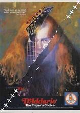 Megadeth Mustaine UK 'Guitarist' Trade Press advert TRANSPARENCY