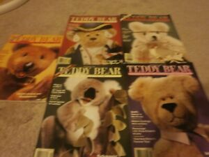 5 VINTAGE Teddy Bear Review Magazine  125 PAGES 1994 MAR/DEC