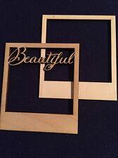 """Set di 2 Mini in legno cornice """"Bellissimo"""" abbellimento Craft Card Scrapbook ART"""
