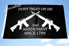 GADSDEN - DON'T TREAD ON ME 2ND AMENDMENT SINCE 1789- TEA PARTY  FLAG 3X5