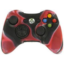 Custodia Cover Silicone per Controller Joypad Xbox 360 - Rosso Nero
