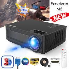 Excelvan 7000Lumen 1080P 3D Home LED Projector 1280*768 Multimedia HDMI/USB/VGA